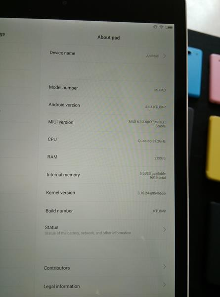 Mi pad Configuration/ Settings