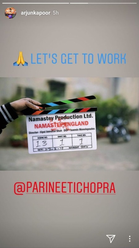 Arjun Kapoor,Parineeti Chopra,Namastey England,Namastey England shooting,Namastey England on the sets,Arjun Kapoor and Parineeti Chopra