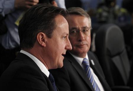 Prime Minister David Cameron and Australia's Deputy Prime Minister Wayne Swan