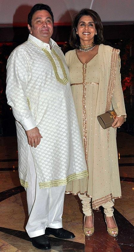 Bollywood actor Rishi Kapoor and Neetu Singh