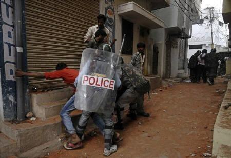 A communal clash in Andhra Pradesh capital