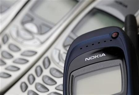 Illustration picture shows Nokia logo on used cell phones, in Zurich, April 30, 2012.