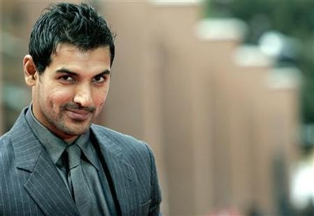 Actor John Abraham poses on the red carpet at the Rome International Film Festival October 24, 2007.