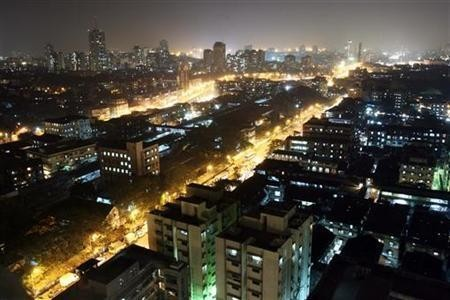 An aerial view of a central district of Mumbai December 22, 2006.