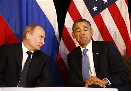 Russian President Putin and US President Obama/Reuters File