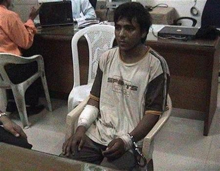 File image of Mohammed Ajmal Kasab, the lone surviving suspected gunman in the 2008 Mumbai attacks