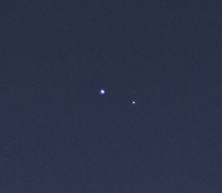 The cameras on NASA's Cassini spacecraft captured this rare look at Earth and its moon from Saturn orbit on July 19, 2013.