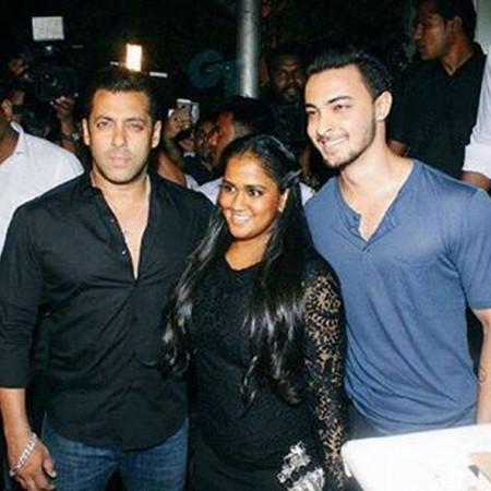 Salman Khan, Arpita Khan Sharma, Aayush Sharma