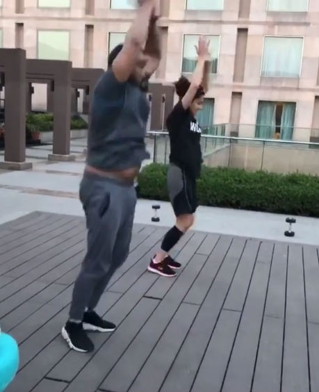 Taapsee Pannu and Anurag Kashyap,Taapsee Pannu,Anurag Kashyap,Taapsee Pannu workout,Anurag Kashyap workout,Manmarziyaan,anurag kashyap film
