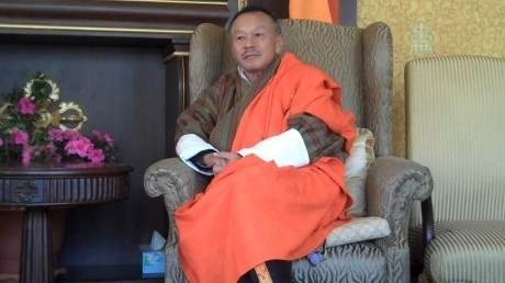 Bhutanese PM, Jigme Thinley, who is currently campaigning for the second general election had a meeting with the Chinese premier in Rio de Janeiro last year.
