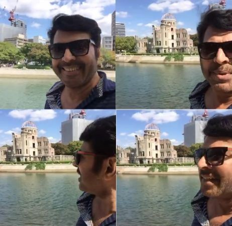Mammootty in Japan,Mammootty Japan photos,mammootty in hiroshima