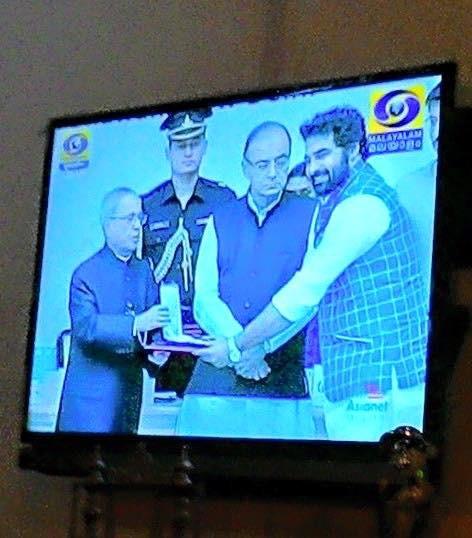Gopi Sunder receiving National Film Awards 2015