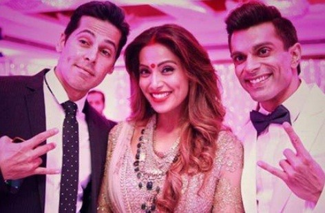 Dino Morea, Bipasha Basu and Karan Singh Grover on their wedding day