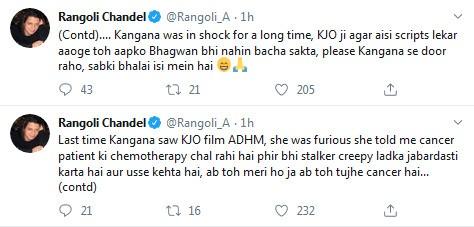 Rangoli Chandel tweet