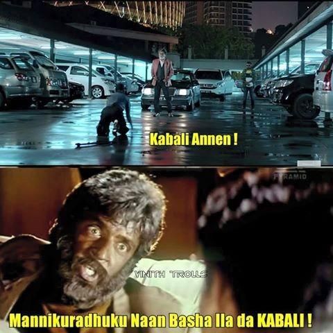 Check out Rajinikanth's Kabali funny memes goes viral in Social Media.