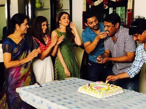 Kajal Agarwal,Nandamuri Kalyanram,director Upendra Madhav,Upendra Madhav,Upendra Madhav birthday,Upendra Madhav birthday celebrations,MLA sets,MLA movie sets