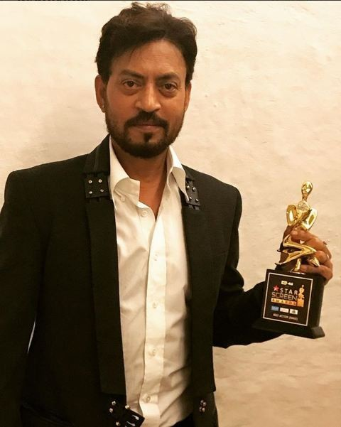 Irrfan Khan,actor Irrfan Khan,Irrfan Khan  Best Popular Actor,Irrfan Khan at Star Screen Awards,Star Screen Awards