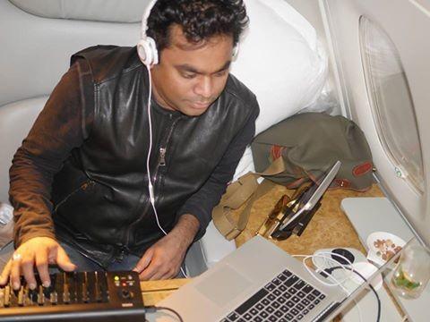 AR Rahman composing music during his flight journey.