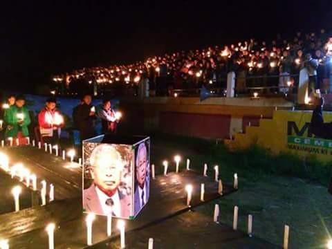 Condolence service for Isak Chishi Swu