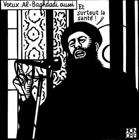 Charlie Hebdo cartoon of ISIS chief Abu Bakr Al-Baghdady