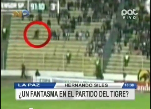Video of a 'Ghost' appearing at a football stadium in Bolivia. (Image: YouTube screengrab)