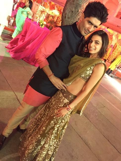 Manish Malhotra with Ambika