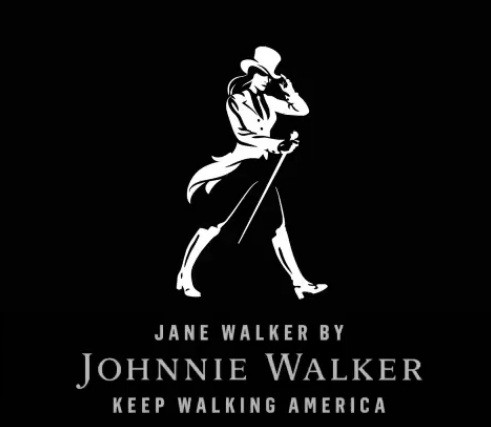 Johnnie Walker's striding man is now a striding woman called Jane Walker