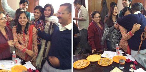 Kejriwal and wife