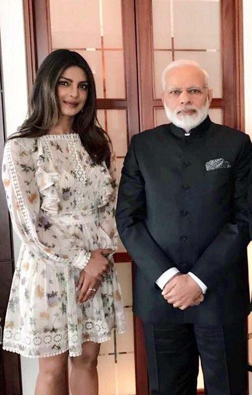 Priyanka Chopra,Narendra Modi,Priyanka Chopra meets Narendra Modi,Priyanka Chopra meets Modi,Narendra Modi in Berlin,Actress Priyanka Chopra