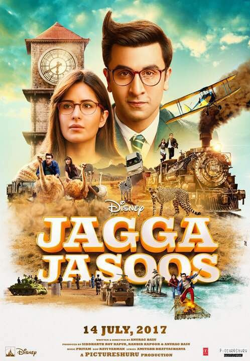Ranbir Kapoor and Katrina Kaif,Ranbir Kapoor,Katrina Kaif,Jagga Jasoos,Jagga Jasoos poster,Jagga Jasoos movie poster,Jagga and Shruti