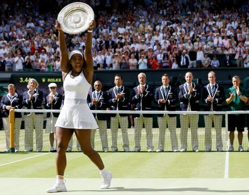Serena Williams,Serena Williams defeats Garbine Muguruza,Garbine Muguruza,Wimbledon Title,Wimbledon 2015,Serena Williams wins Sixth Wimbledon Title,Wimbledon,womens Wimbledon,women's single Wimbledon,Serena Williams wins,Serena Williams vs. Garbine Muguru