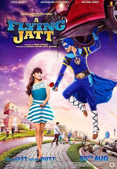 Tiger Shroff,A Flying Jatt first look poster,A Flying Jatt first look,A Flying Jatt poster,Nathan Jonnes,Sharad Kapoor,Jacqueline Fernandez