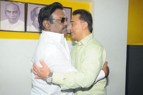 Ulaganayagan Kamal Haasan,Kamal Haasan,Captain Vijayakanth,Vijayakanth,Kamal Haasan and Vijayakanth