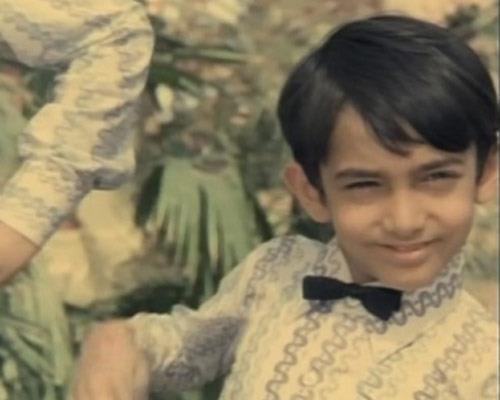 Aamir Khan as a child