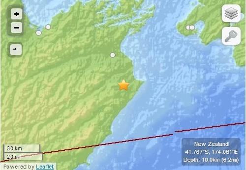 Earthquake in New Zealand