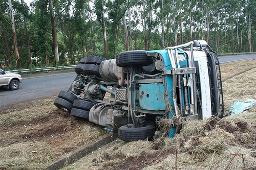 Truck overturns (Representational Image)