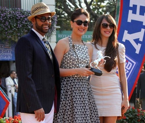 Kareena,Hazel Keech and VJ Andy at Mid Day trophy  race event