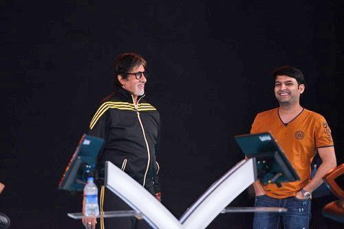 Amitabh Bachchan and Kapil Sharma shoot for 'KBC 8'