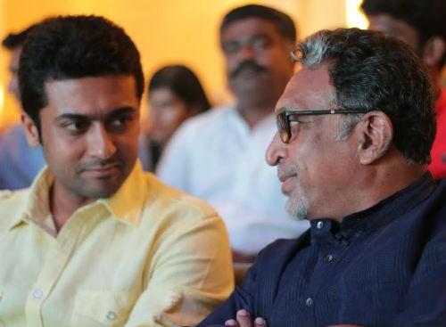 Suriya with Nasser at 'Baahubali' Trailer Launch