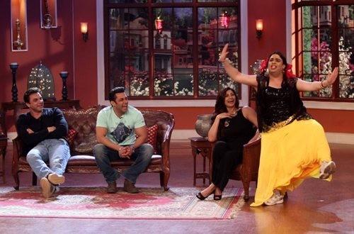 Salman Khan,Daisy Shah and Sohail on'comedy Night With Kapil'