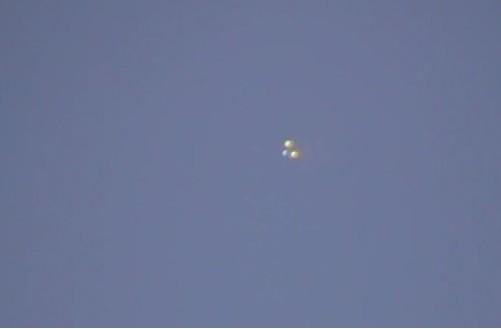 UFO Sighting: Three Orbs Spotted Over Sherman Oaks, California (You Tube Screen Shot/YodaVon .VaderWalker)