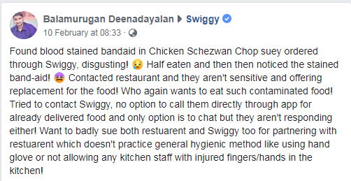 Swiggy facebook post 1