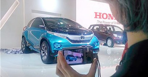 The Honda pavillion at the Auto Expo 2014