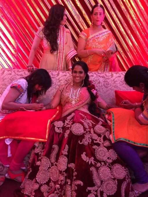 Arpita Khan's mehendi ceremony