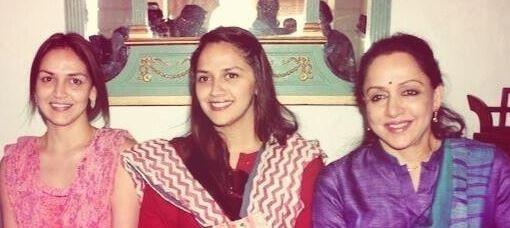 Hema Malini and her daughters