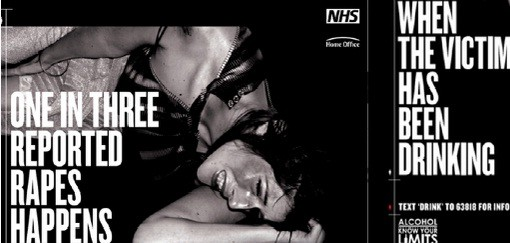 NHS poster on rape victims