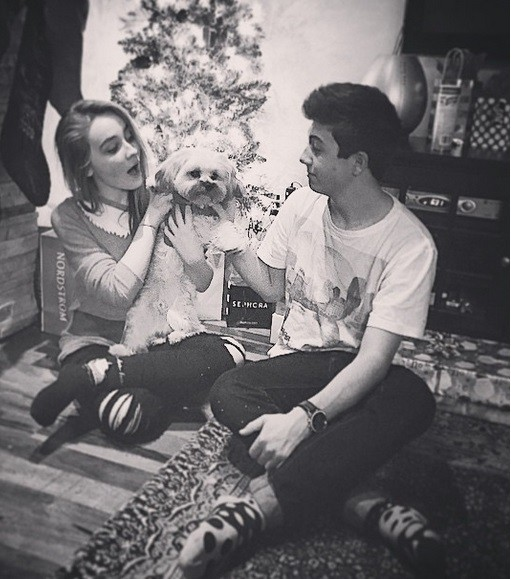Sabrina with boyfriend Bradley