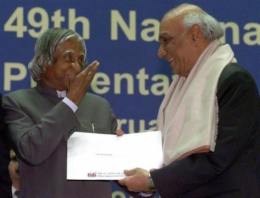 A P J Abdul Kalam, Yash Chopra