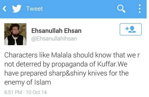 Ehsanullah Ehsan also used to be active on Twitter till he was banned in November.