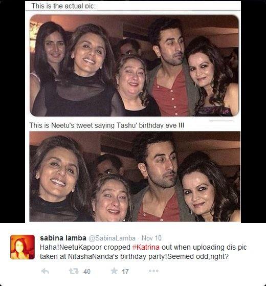 Katrina Kaif, Neetu Singh, Ranbir Kapoor